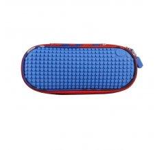 Пенал школьный пиксельный Super class pencil case WY-B012 Небесно-синий