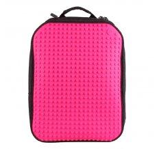 Пиксельный рюкзак большой (ортопедическая спинка) Canvas classic pixel Backpack WY-A001 Фуксия