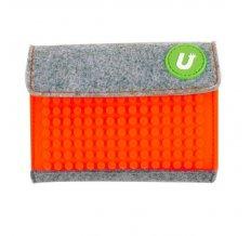 Пиксельный кошелек Pixel felt small wallet WY-B007 Светло-оранжевый
