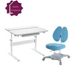 Растущий комплект для школьника парта colore grey + кресло primavera II