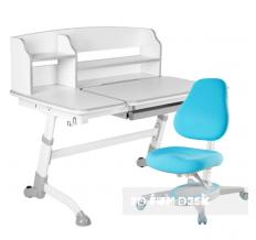 Комплект парта-трансформер FunDesk Amare II + кресло Primavera I Blue