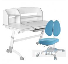 Комплект парта-трансформер FunDesk Amare II + кресло Primavera II Blue