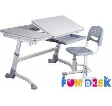 Комплект парта-трансформер для школьника FunDesk Amare Grey и Детский стул FunDesk SST3 Grey