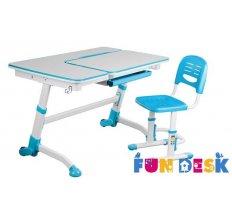 Комплект парта-трансформер для школьника FunDesk Amare Blue и Детский стул FunDesk SST3 Blue