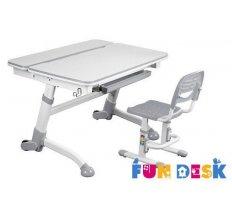 Комплект парта-трансформер для школьника FunDesk Volare Grey и Детский стул FunDesk SST3 Grey