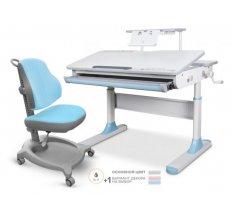 Комплект стол Mealux Edmonton Multicolor с полкой + кресло ErgoKids Y-402