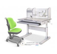 Комплект стол Mealux Edmonton Multicolor с надстройкой + кресло ErgoKids Y-402