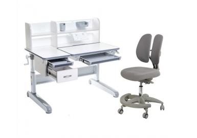 Комплект парта-трансформер Libro Grey + кресло Primo Grey